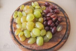 Салат с курицей, виноградом и грушей: фото к шагу 5.