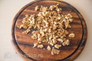 Салат с курицей, виноградом и грушей: фото к шагу 6.