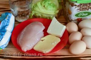 Салат с курицей, капустой и сыром: Ингредиенты