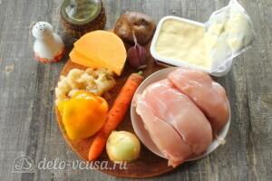 Тыквенный суп с курицей и сыром: Ингредиенты