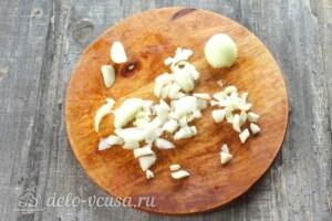 Тыквенный суп с курицей и сыром: фото к шагу 3.