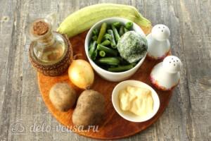 Зеленый суп-пюре из стручковой фасоли: Ингредиенты
