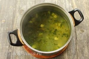 Зеленый суп-пюре из стручковой фасоли: фото к шагу 5.