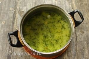 Зеленый суп-пюре из стручковой фасоли: фото к шагу 6.