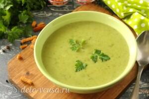 Зеленый суп-пюре из стручковой фасоли: фото к шагу 8.