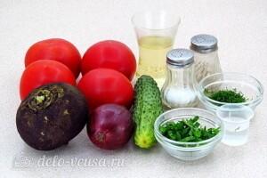 Андалузский овощной салат: Ингредиенты