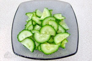 Андалузский овощной салат: фото к шагу 2.