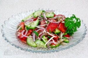 Андалузский овощной салат: фото к шагу 7.
