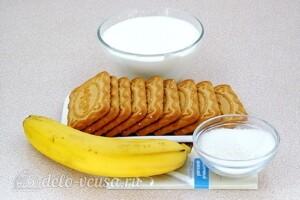 Бананово-сметанный десерт с печеньем: Ингредиенты