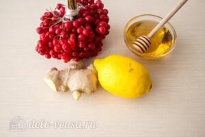 Имбирный чай с калиной и лимоном: Ингредиенты