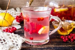 Имбирный чай с калиной и лимоном: фото к шагу 9.