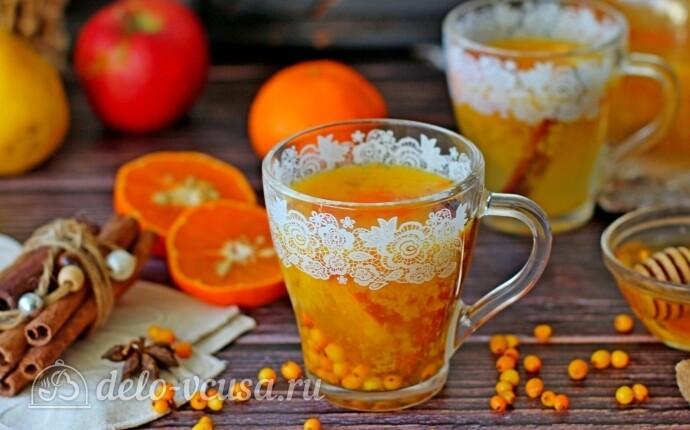 Облепиховый чай с апельсином и корицей