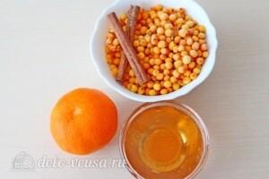 Облепиховый чай с апельсином и корицей: Ингредиенты