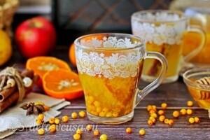 Облепиховый чай с апельсином и корицей: фото к шагу 6.