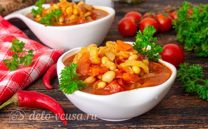 Фасолада - греческий постный суп