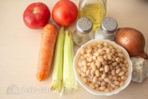 Фасолада - греческий постный суп: Ингредиенты