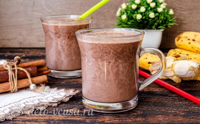 Рецепт горячий шоколад с бананом