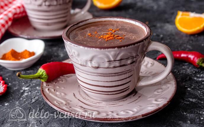 Горячий шоколад с чили перцем