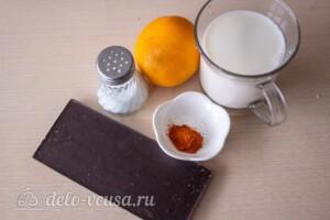 Горячий шоколад с чили перцем: Ингредиенты
