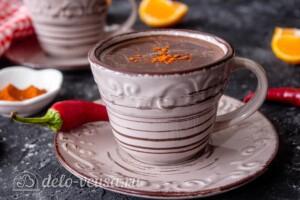 Горячий шоколад с чили перцем: фото к шагу 7.