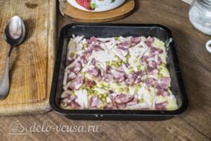 Картофельная запеканка с ветчиной и сыром: фото к шагу 6.
