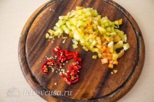 Кесадилья с фаршем и фасолью: фото к шагу 3.