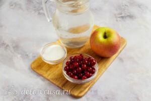 Компот из яблок и клюквы: Ингредиенты
