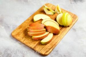Компот из яблок и клюквы: фото к шагу 1.