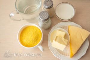 Кукурузная каша с сыром: Ингредиенты