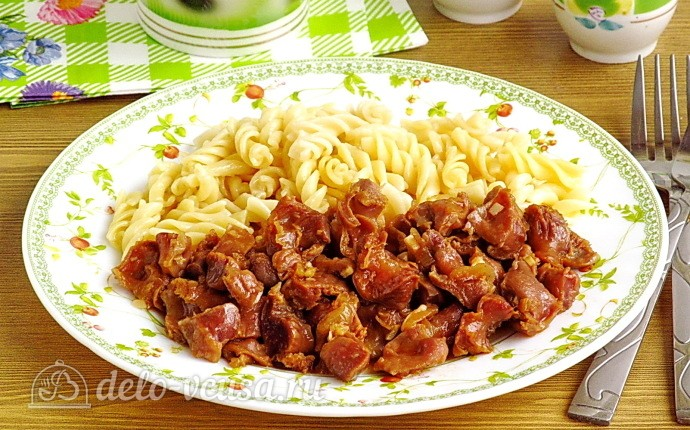 Куриные желудки в соево-чесночном соусе: фото блюда приготовленного по данному рецепту