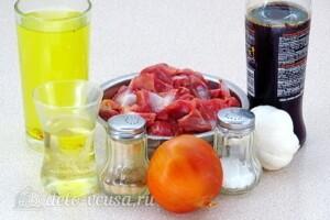 Куриные желудки в соево-чесночном соусе: Ингредиенты