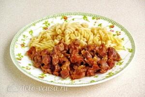 Куриные желудки в соево-чесночном соусе: фото к шагу 11.