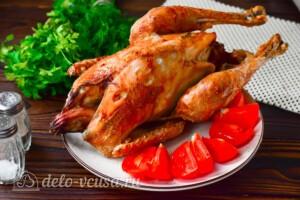 Курица-гриль на вертеле в духовке: фото к шагу 7.