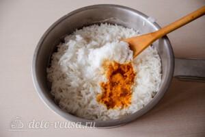 Курица карри с рисом и сливками: фото к шагу 8.