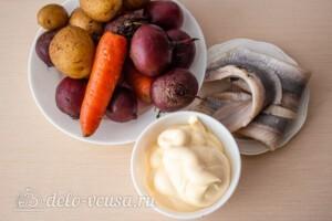 Ленивая селедка под шубой: Ингредиенты