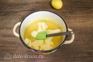 Лимонный курд на желтках: фото к шагу 4.