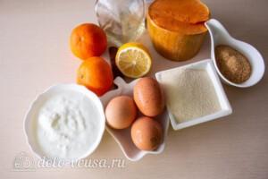 Манник с тыквой и цитрусовым сиропом: Ингредиенты