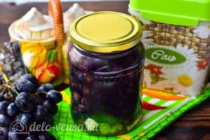 Маринованный виноград на зиму: фото к шагу 7.