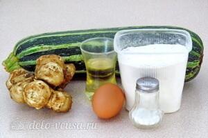 Кабачковые оладьи с земляной грушей: Ингредиенты