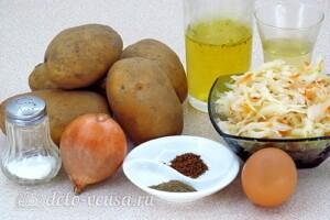 Драники с квашеной капустой по-белорусски: Ингредиенты