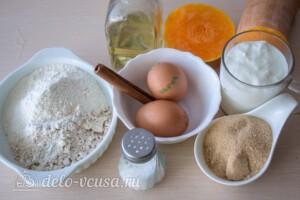 Полезные тыквенные оладьи на кефире: Ингредиенты