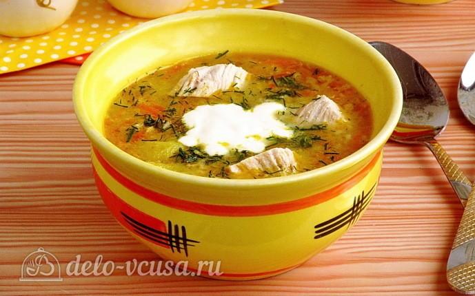 Овсяный суп с курицей и овощами