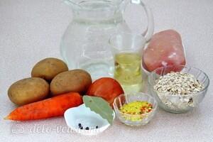 Овсяный суп с курицей и овощами: Ингредиенты