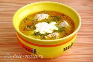 Овсяный суп с курицей и овощами: фото к шагу 11.