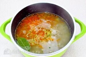 Овсяный суп с курицей и овощами: фото к шагу 8.