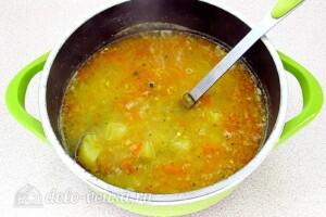 Овсяный суп с курицей и овощами: фото к шагу 9.