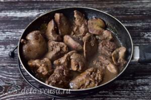 Паштет из гусиной и куриной печени: фото к шагу 2.