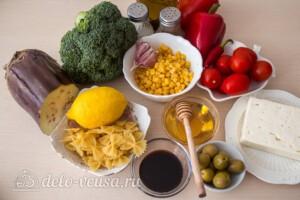 Паста-салат с овощами и сыром фета: Ингредиенты