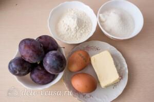 Пирог со сливами и меренгой: Ингредиенты