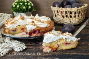 Пирог со сливами и меренгой: фото к шагу 14.